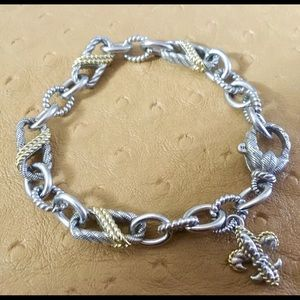 JUDITH RIPKA Sterling & 14K Bracelet with charm.